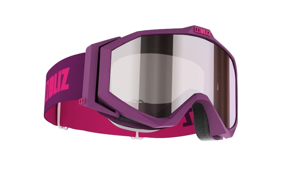 Edge Junior Mirror - Matt magenta w silver mirror