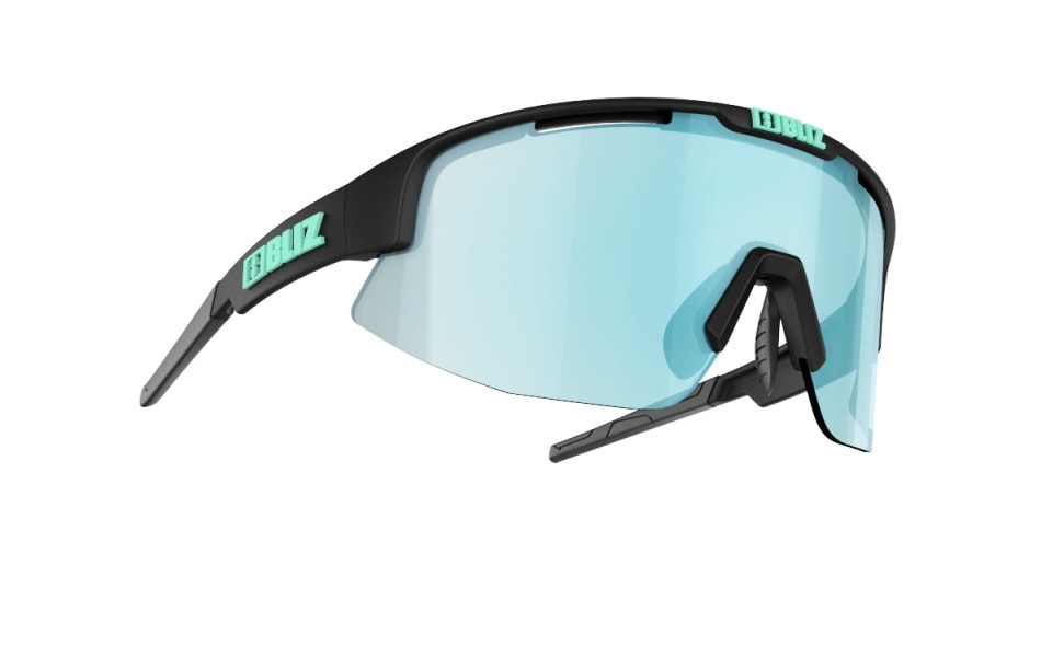 Matrix Small - Matt black w ice blue multi
