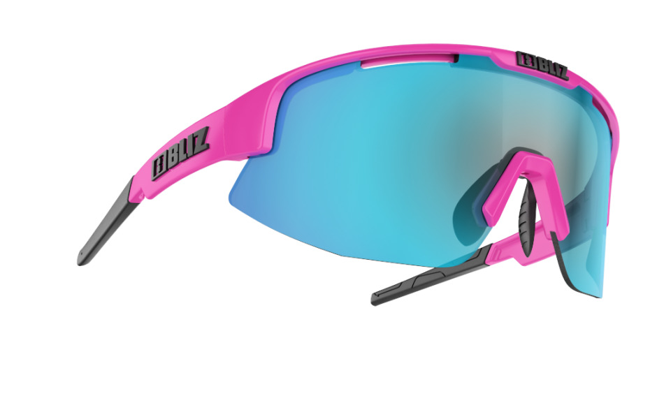Matrix Small - Shiny pink w blue multi