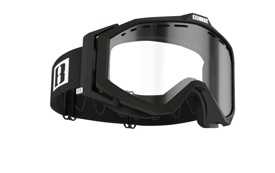 Edge Drop MTB - Matt black w clear lens