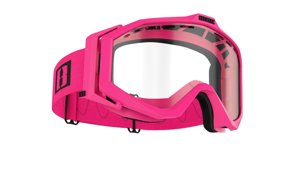 Edge Drop MTB - Matt pink w clear lens
