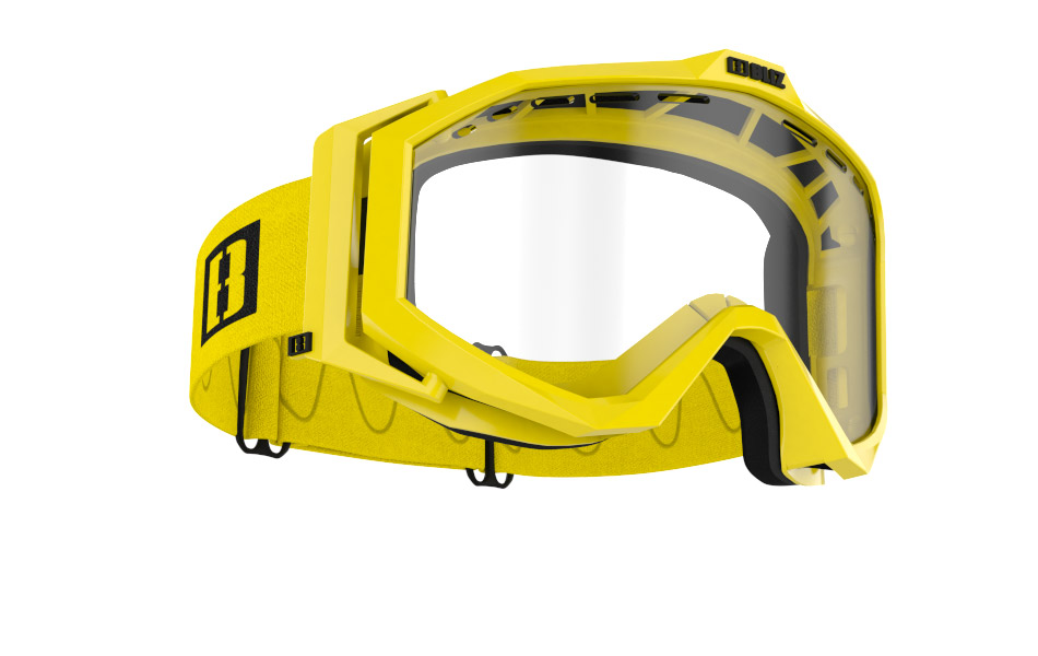 Edge Drop MTB - Matt yellow w clear lens