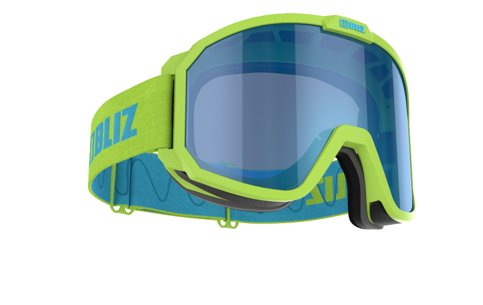 Rave JR - Matt Lime Green, w Blue Multi
