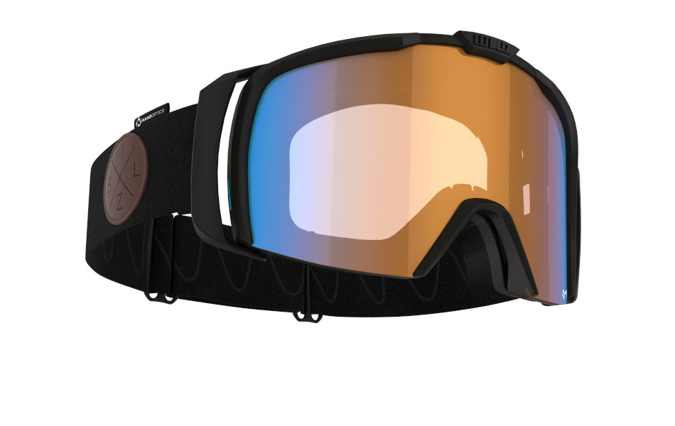 Nova Nano Optics/ Nordic Light - Matt black, orange w blue multi