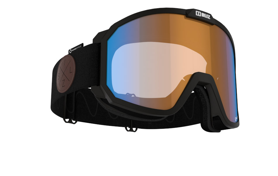 Rave Nano Optics/ Nordic Light - Matt Black, w Blue multi