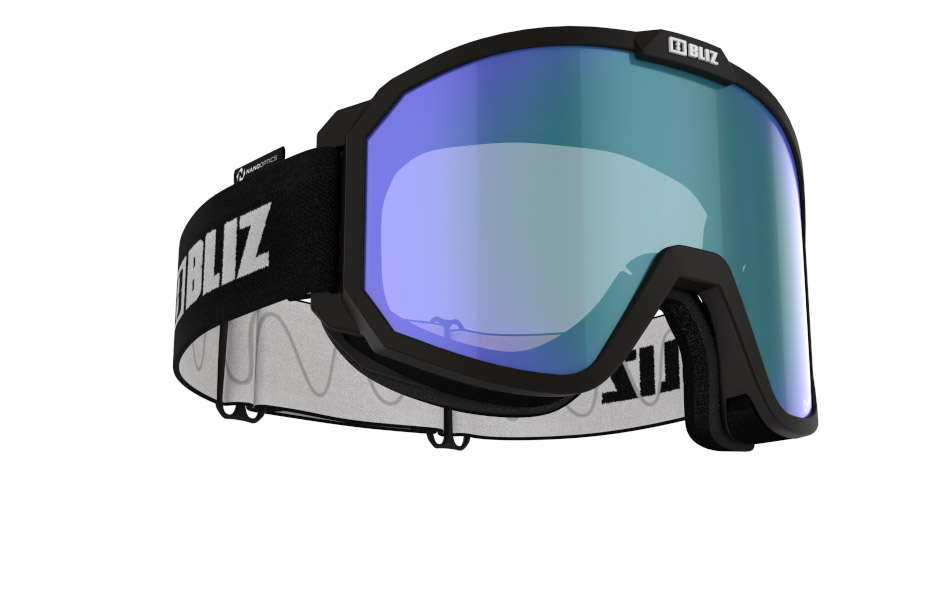 Rave Nano Optics - Matt Black, w Blue multi